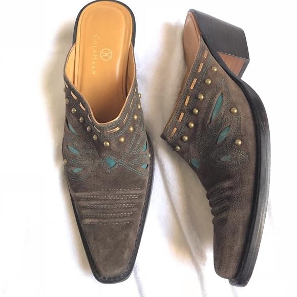 14b84cdaa6e Cole Haan Shoes - Cole Haan Morgan D18352 Western Mule Boots